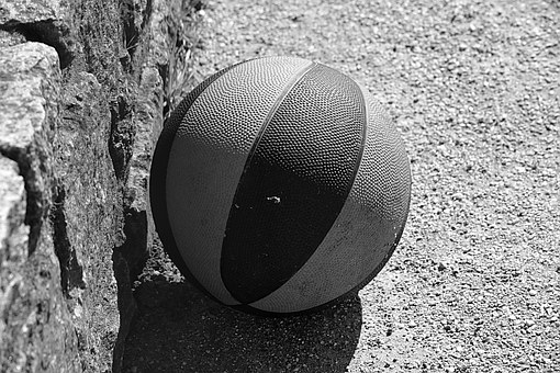 BandW Ball on Concrete